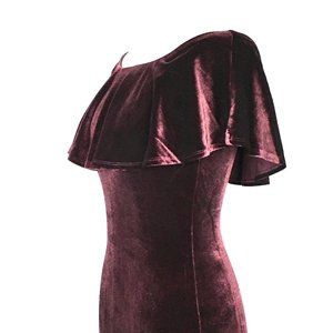 Forever 21 Dresses - 🌺3/$15🌺MORE SIZES ! Dress Aubergine Ruffle.